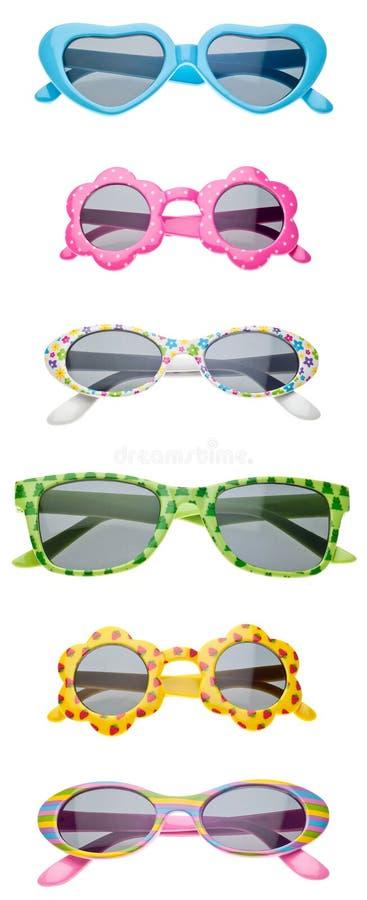 Sommer-Kind-Größen-Sonnenbrillen stockfotos