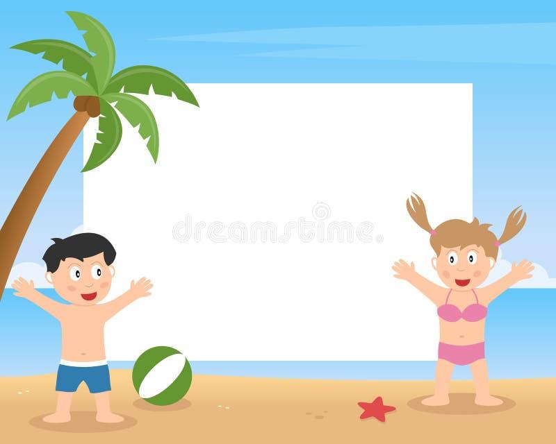 Sommer-Kinder, die Foto-Rahmen spielen lizenzfreie abbildung