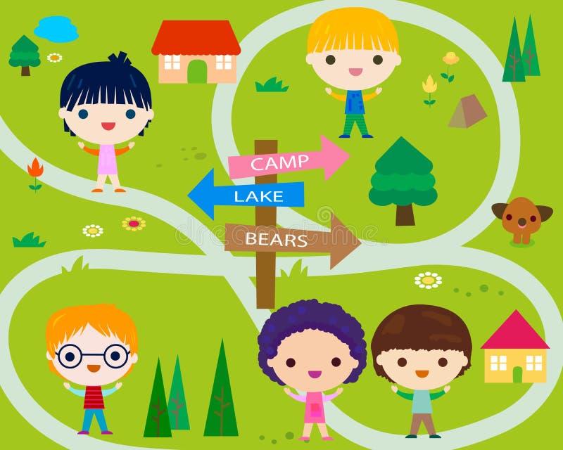 Sommer-Lager für Kinder vektor abbildung