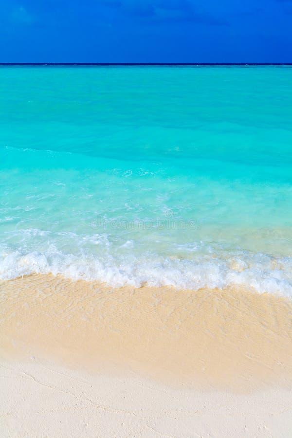 Sommer-Landschaft des tropischen Strandes lizenzfreie stockfotos