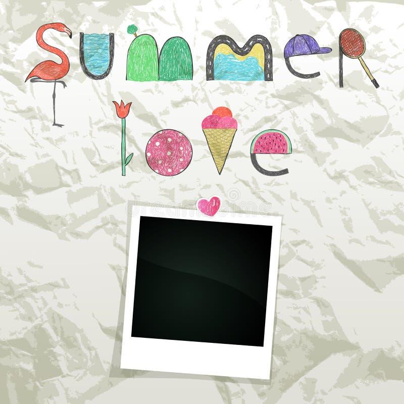 Sommer-Liebe vektor abbildung