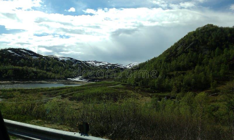 Sommer in Norwegen stockbilder