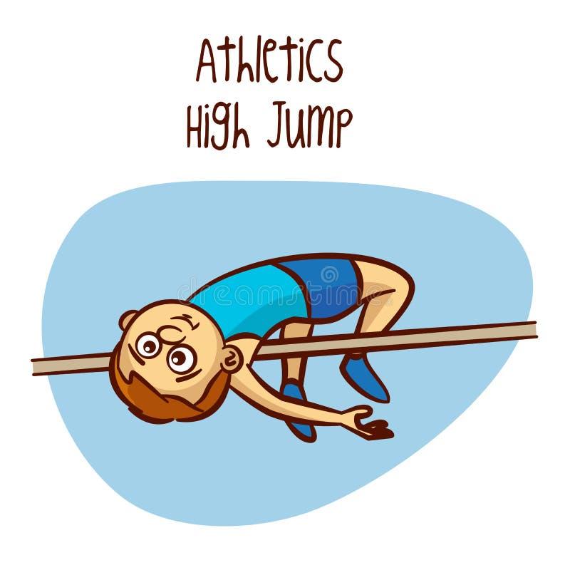 Sommer-olympischer Sport athletik Hochsprung vektor abbildung