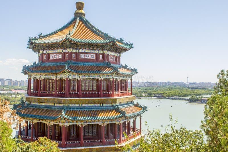 Sommer-Palast-Pagode Peking China lizenzfreies stockfoto