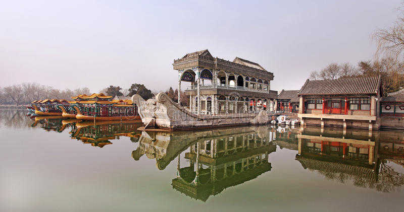 Sommer-Palast in Peking, China stockbilder
