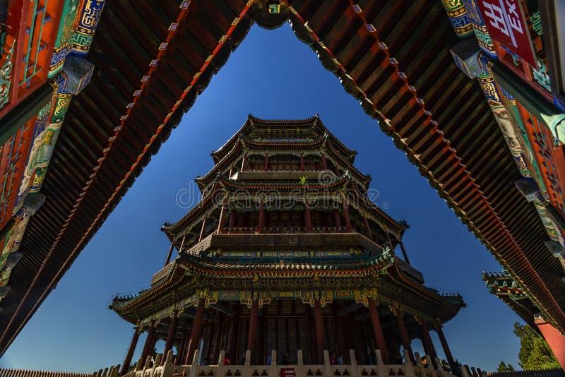 Sommer-Palast Wanshoushan Foxiangge lizenzfreie stockbilder
