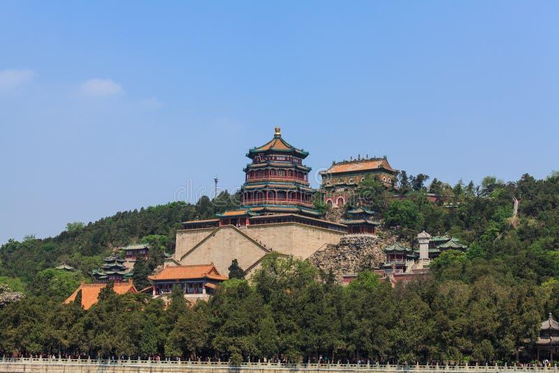 Sommer-Palastkomplex auf dem Langlebigkeits-Hügel, Peking stockbild