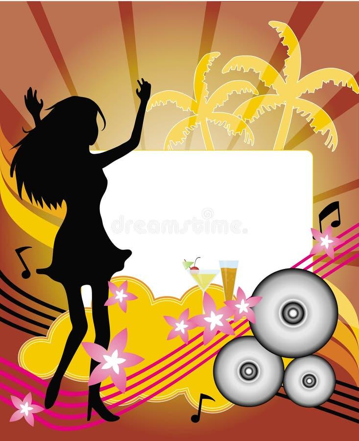 Sommer-Party-Flugblatt lizenzfreie abbildung