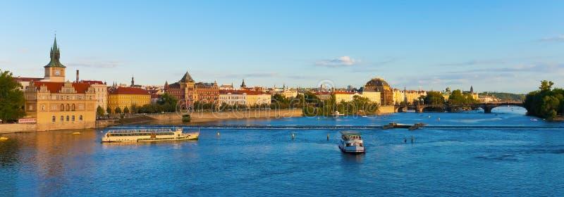 Sommer-Prag-Panorama stockbilder