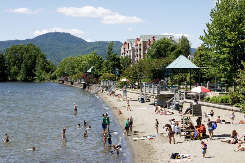 Sommer Quebecs in den östlichen Gemeinden stockbild