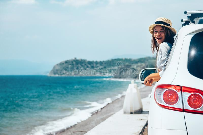 Sommer roadtrip zum Strand lizenzfreie stockfotografie