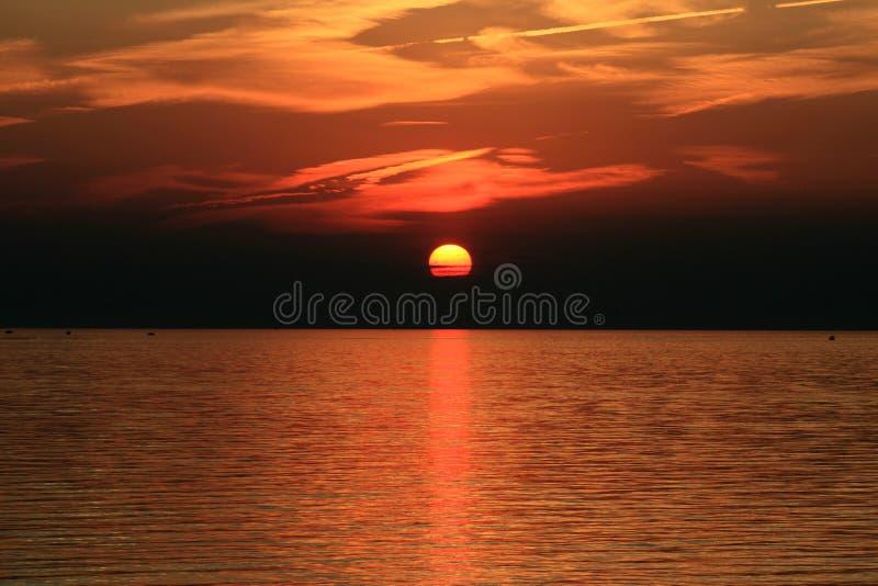 Sommer-Sonnenuntergang stockfotos