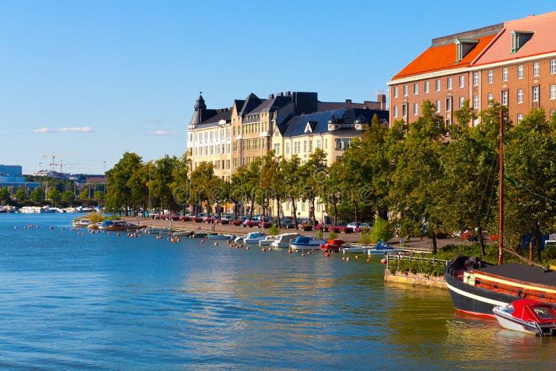 Sommer-Stadtbild von Helsinki, Finnland lizenzfreie stockfotografie