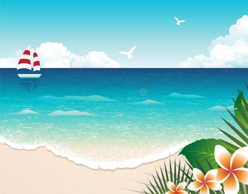 Sommer-Strand vektor abbildung