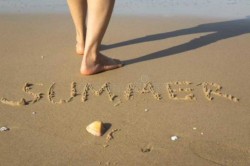 Sommer am Strand stockfoto
