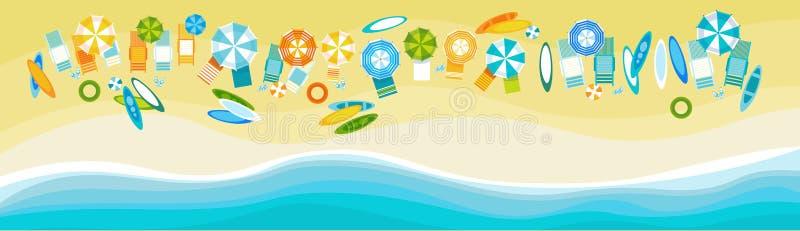 Sommer-Strand-Ferien-gesetzter Sand-tropische Feiertags-Fahne stock abbildung