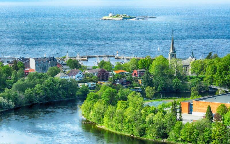 Sommer in Trondheim, Norwegen stockbild