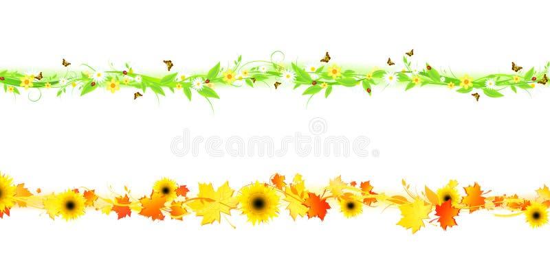 Sommer und Herbst lizenzfreie abbildung