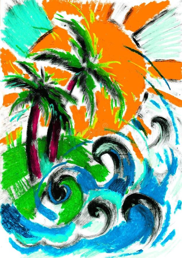 Sommer und Rest und Natur vektor abbildung