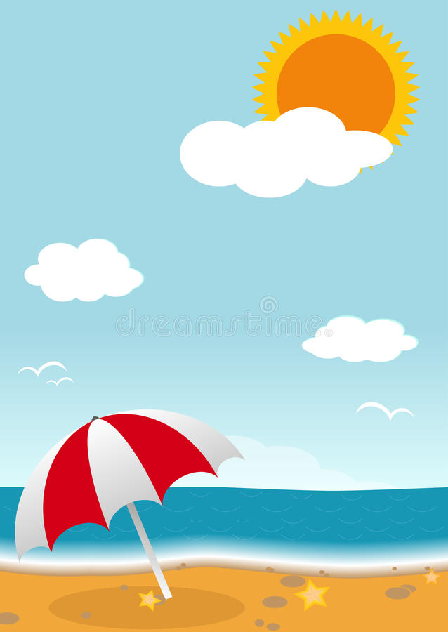 Sommer Vektor lizenzfreie abbildung