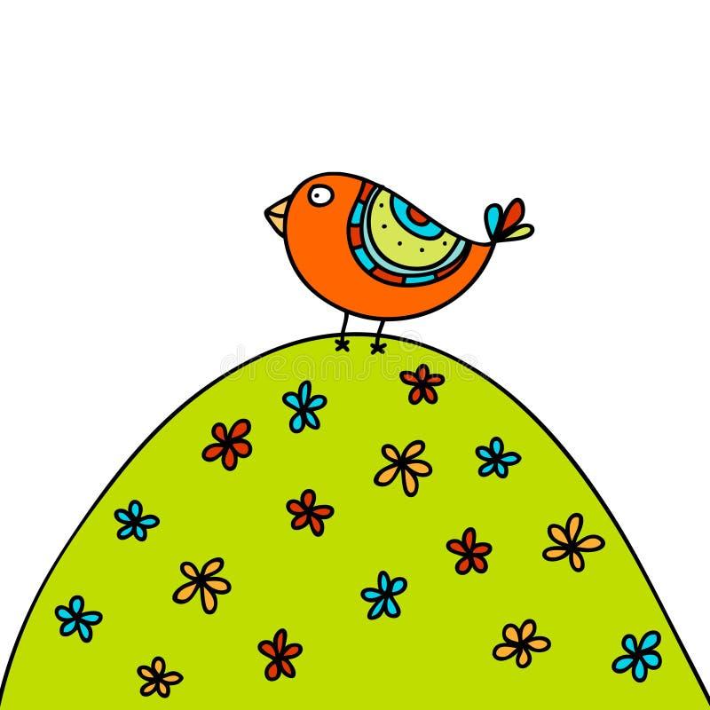 Sommer-Vogel lizenzfreie abbildung