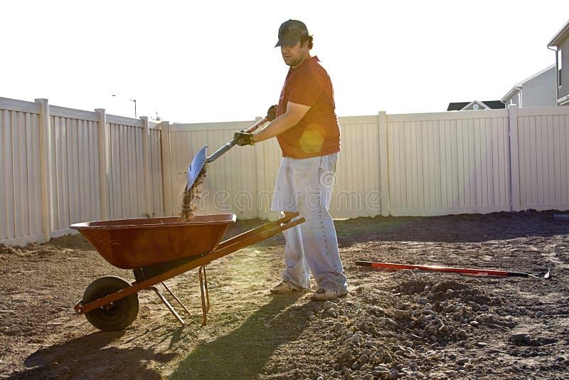 Sommer-Yard-Arbeit stockfoto