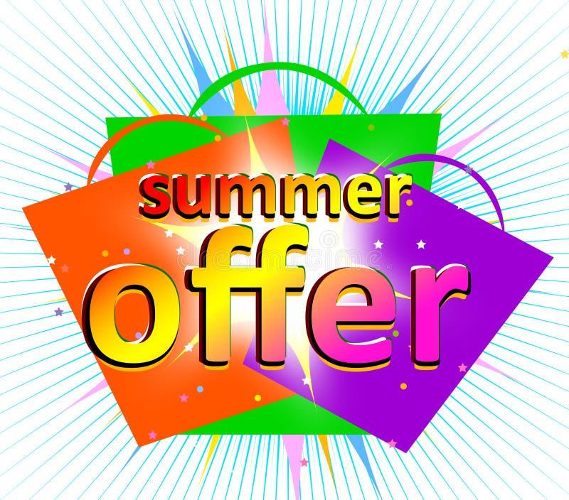 Sommerangebot lizenzfreie abbildung