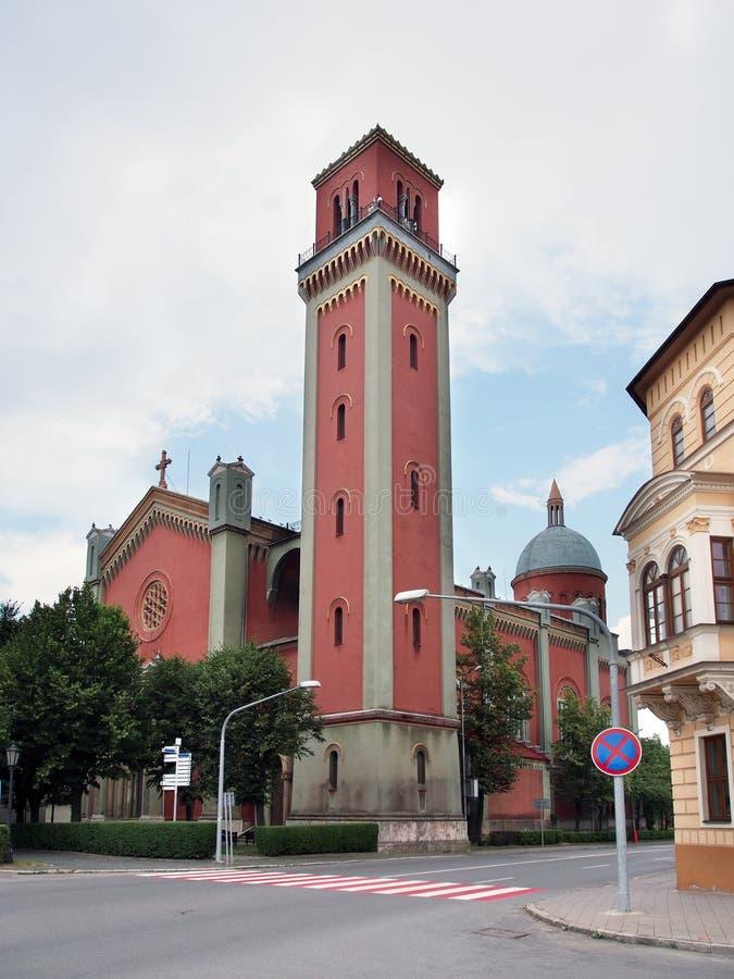 Neue evangelische Kirche in Kezmarok lizenzfreies stockbild