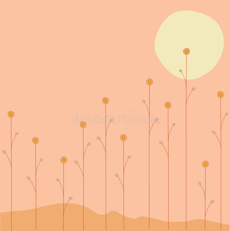 Sommerblumen lizenzfreie abbildung
