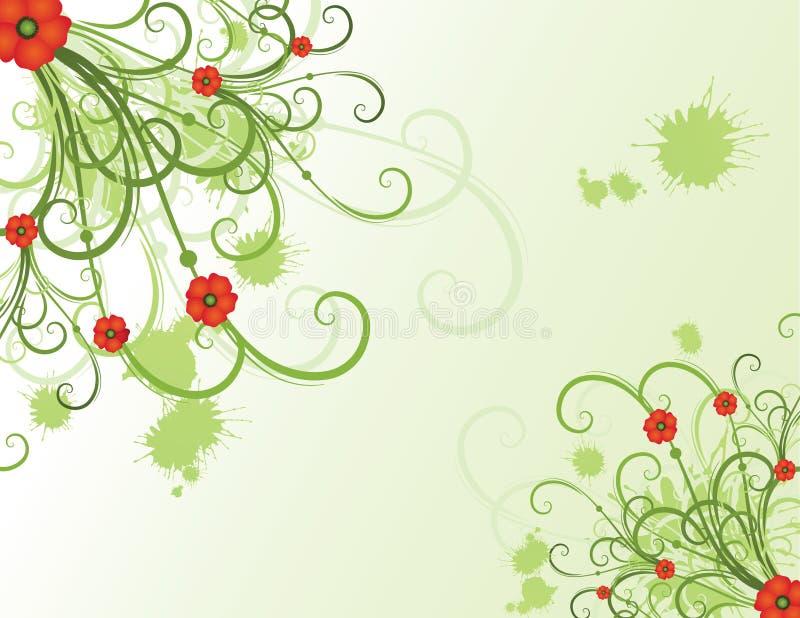 Sommerblumenauslegung stock abbildung