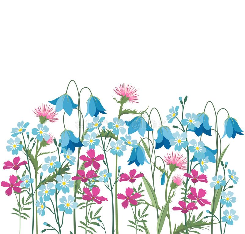 Sommerblumendekorationen vektor abbildung