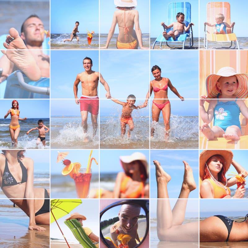 Sommercollage lizenzfreie stockfotos