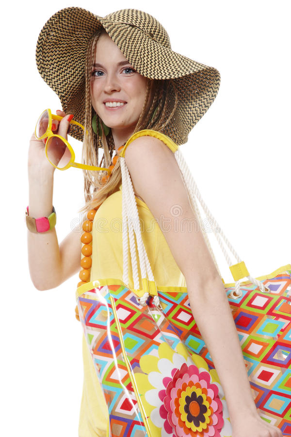 Sommereinkaufen stockfotos