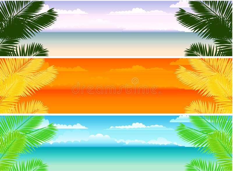 Sommerfahnen lizenzfreie abbildung