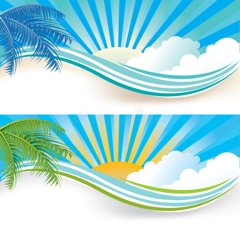 Sommerfahnen vektor abbildung