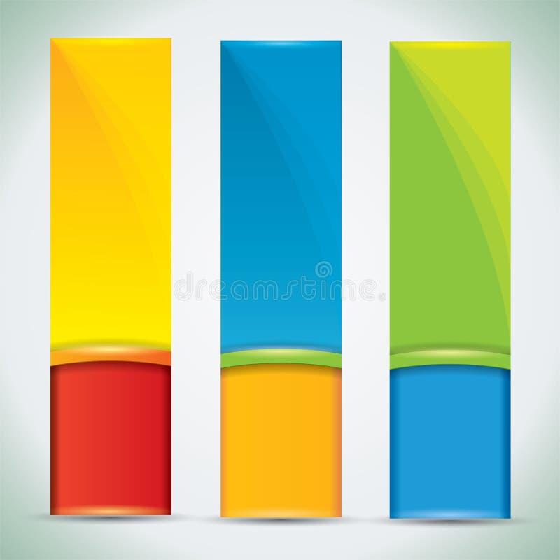 Sommerfahnen mit vibrierenden Farben lizenzfreie abbildung