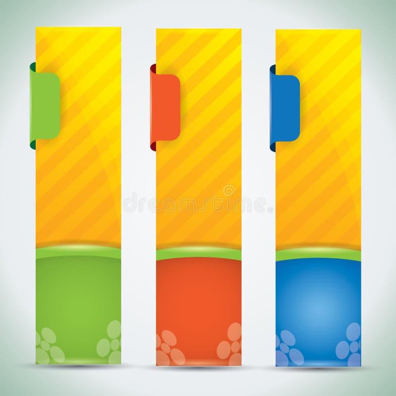 Sommerfahnen mit vibrierenden Farben stock abbildung