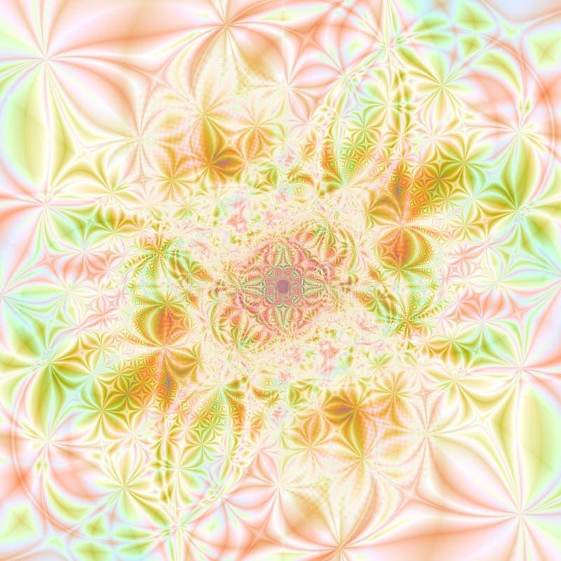 Sommerfarben abstrakte Hintergrund-Schablonen-Auslegung lizenzfreie abbildung