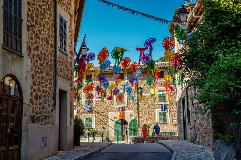 Sommerfeier in Spanien stockfotografie