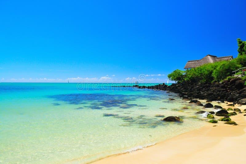 Sommerferien bei Mauritius stockbilder