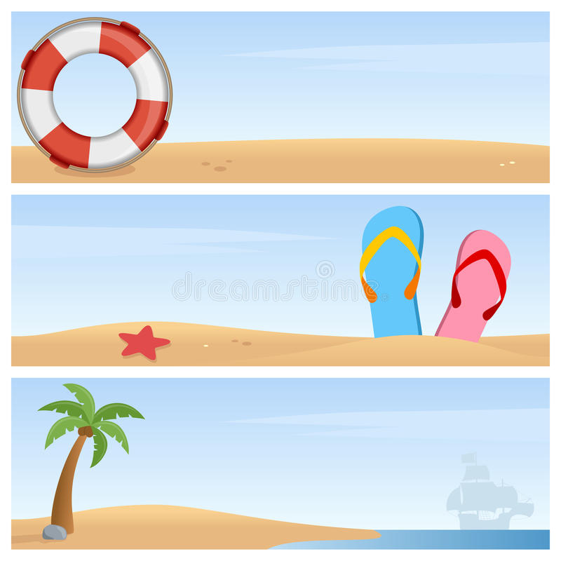 Sommerferien-horizontale Fahnen stock abbildung