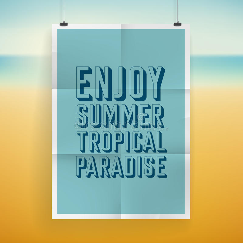 Sommerferien-Plakatdesign vektor abbildung