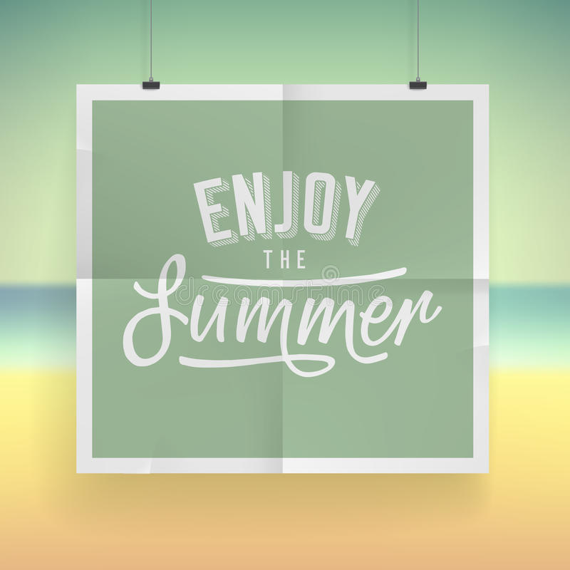 Sommerferien-Plakatdesign lizenzfreie abbildung