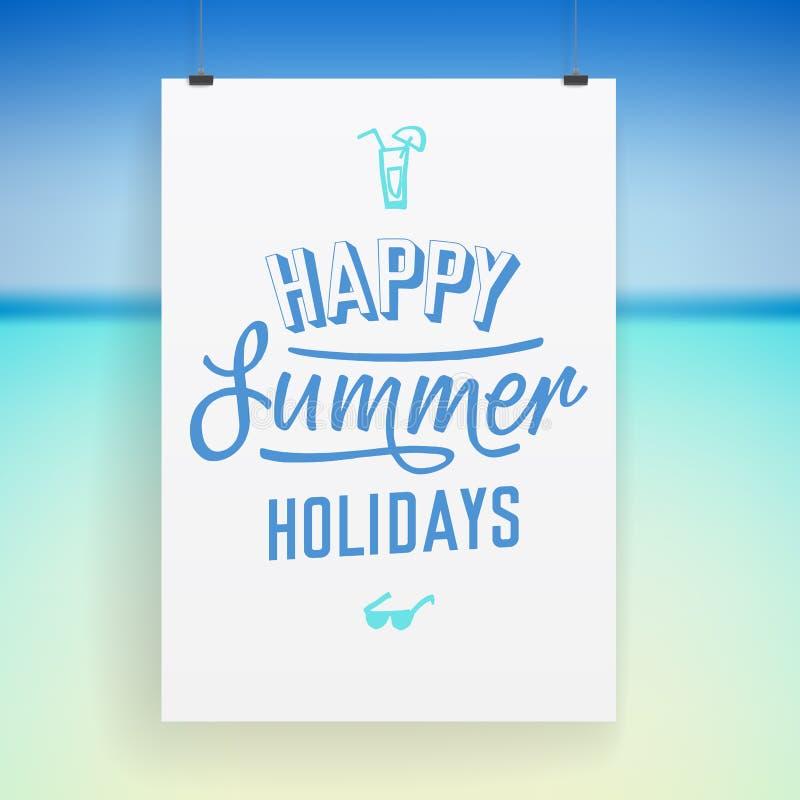 Sommerferien-Plakatdesign stock abbildung