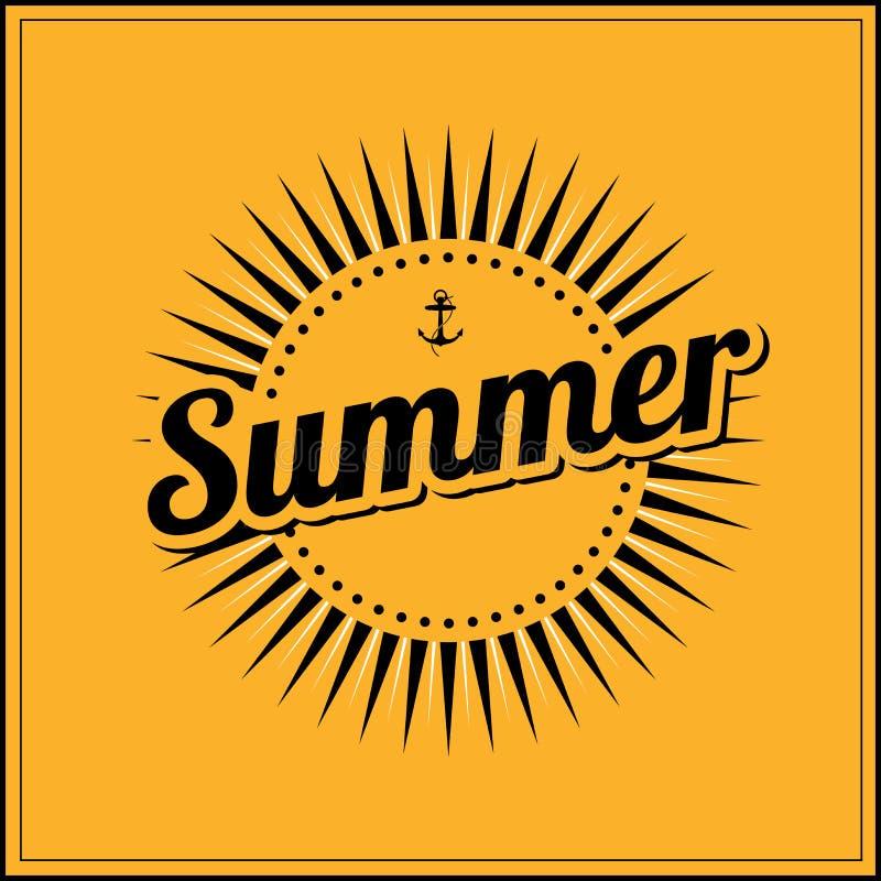Sommerferien-Vektor Sommer-Logobuchstaben stock abbildung