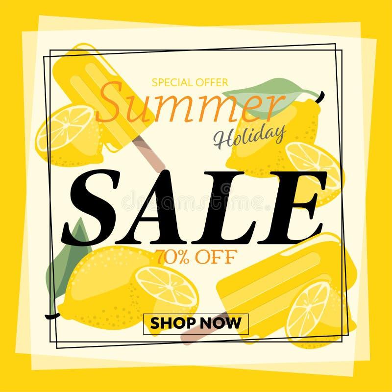 Sommerferien-Verkaufsfahne vektor abbildung