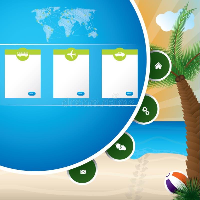 Sommerferien-Websiteschablonenentwurf vektor abbildung