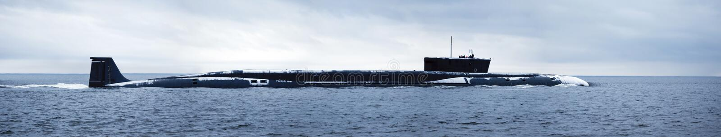 Sommergibile nucleare russo immagine stock libera da diritti