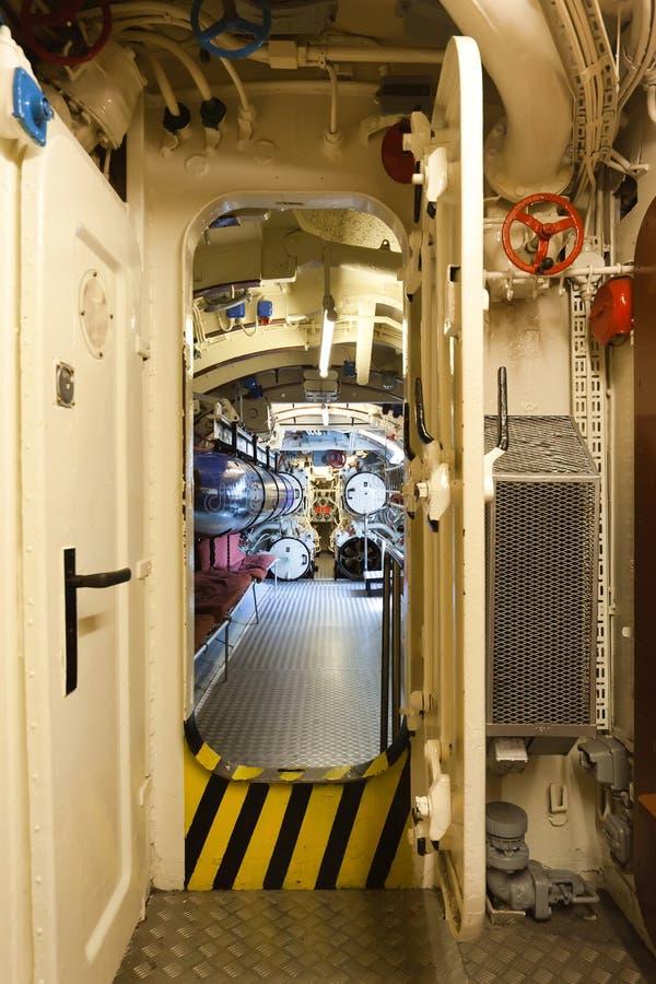 Sommergibile tedesco - scompartimento della torpedine immagini stock