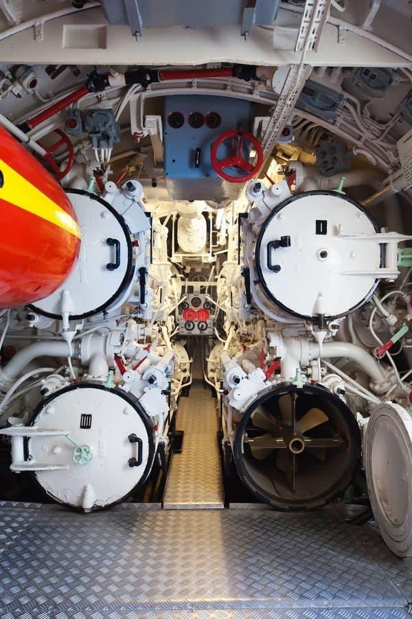 Sommergibile tedesco - scompartimento della torpedine fotografia stock libera da diritti